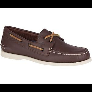 Men's/boys sperry brand brown loafers